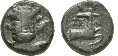 Ancient Greece 2-1 Cent BC PAMPHYLIA SELGE HERAKLES CLUB STAG