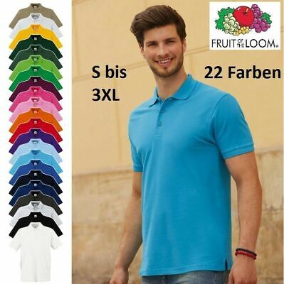 FRUIT OF THE LOOM Poloshirt PREMIUM Polo S BIS 3XL 100% BAUMWOLLE SHIRTS SALE!!!
