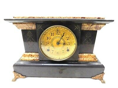 1892 Seth Thomas Adamantine Mantle Clock, Very Clean All Original, Beautiful!!!