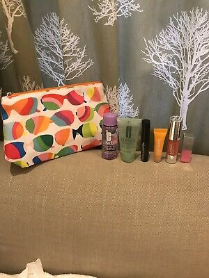 Clinique Gift Set Make Up Bag + 6 Travel Size Products BN