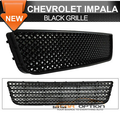 Fits 06-11 Chevy Impala Lower Hood Mesh Grille Black ABS Honeycomb LT LS Ltz
