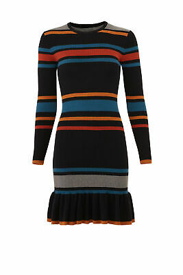 dd36c11aa47 cupcakes and cashmere Black Women's Large L Striped Sweater Dress $120- #690