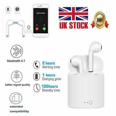 Twins Earphones i7s TWS Bluetooth Earbuds Stereo Headphone Wireless Headset MK