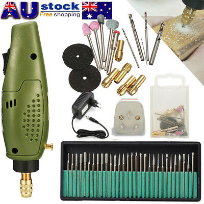 12000RPM Electric Engraving Pen Stone Jewelry Wood Care Tool w/ 30Pcs Drill Set