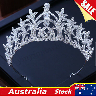 Elegant Clear Crystal Wedding Bridal Party Ice Queen Pageant Prom Tiara Crown AU