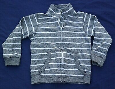MARKS & SPENCER Boys Dark Grey White Striped Long Sleeve Jacket 3-4 Years