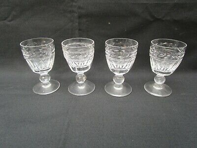 4 Stuart 'Arundel' Crystal Cut Liqueur Glasses