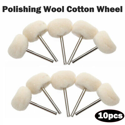 22mm Polishing Buffing Wool Cotton Wheel Dremel Rotary Tools 10PCS