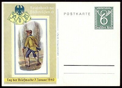Germany 1940 - Third Reich Day of the Stamp Special Postcard