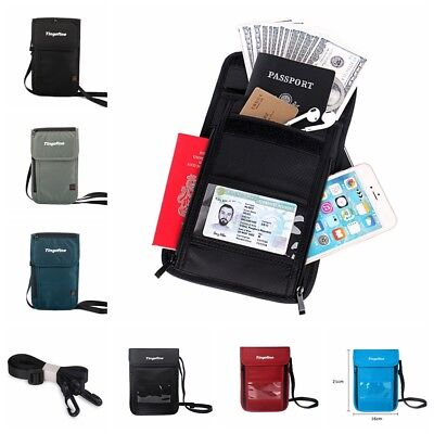 89dda92eb0f2 RFID BLOCKING PASSPORT Holder Waterproof ID Storage Card Bag Travel ...