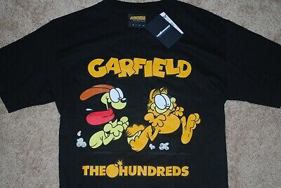 af02f496 NEW Men's The Hundreds x Garfield Chase Odie Black Graphic T-Shirt (Small)