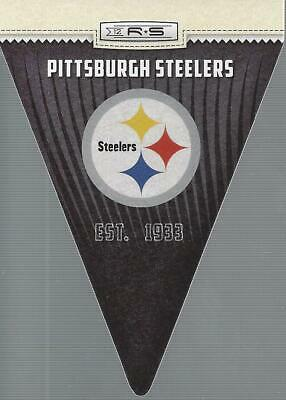 2012 Rookies and Stars NFL Team Pennant #25 Pittsburgh Steelers (Sports card)