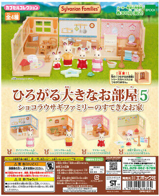 "Sylvanian Families Calico Critters Epoch Gacha ""Expanded Rooms"" 4set completed"