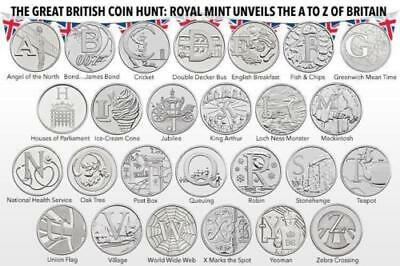 2018 2019 Alphabet A-Z 10p Pence Piece Coins collection - Choose Unc Letters set