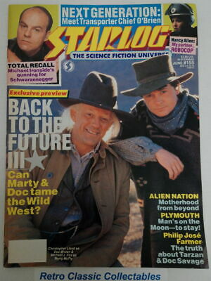Starlog Magazine #155 June 1990 - Back to the Future II, Total Recall, Robocop