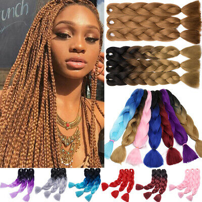 NEW Ombre Xpression Jumbo Kanekalo Braiding Hair Extensions Braids Purple Pink