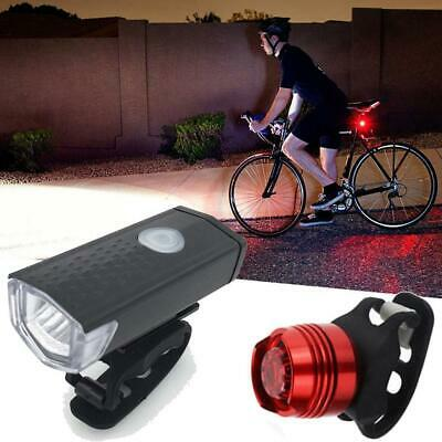 Mountain Bike USB Rechargeable Waterproof Led Light Headlight Taillight B98B 04