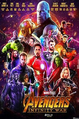 """NEW Avengers 4: Infinity movie poster 27"""" x 40"""" Iron man, 2 for $27"""