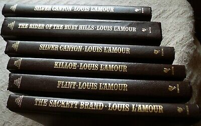 Lot of 6 Louis L'Amour Collection Leatherette Books-Stand Alone Novel Collection