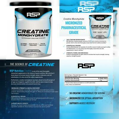 RSP Creatine Monohydrate – Pure Micronized Powder Supplement for Increased...