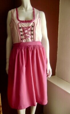@ Country Life @ Dirndl Pink-White + Apron Pink 3XL UK 20 US 16 Gr. 46,