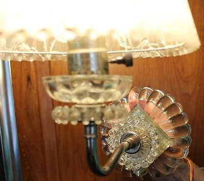 Antique Vintage Glass Hobnail Wall Light Fixture With Shade Unique Works