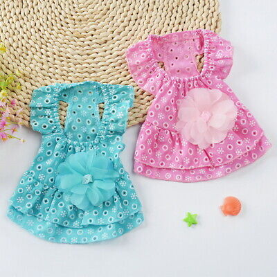 Small Dog Princess Dress Spring Summer Pet Puppy Clothes Skirt for teddy US STO