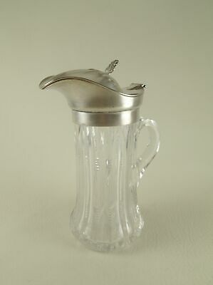 GORHAM Silverplate and Cut Crystal / ABCG Syrup Pitcher date marked 1911