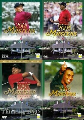 HIGHLIGHTS 1997 01 02 05 MASTERS New DVD Tiger Woods