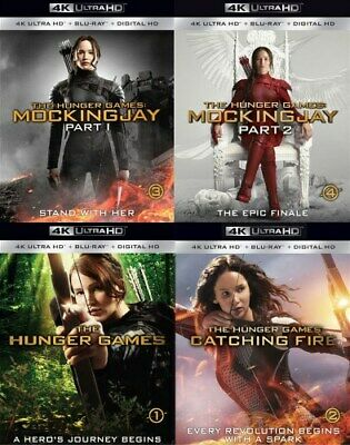 THE HUNGER GAMES COMPLETE SERIES New Sealed UHD Ultra HD + Blu-ray All 4 Films
