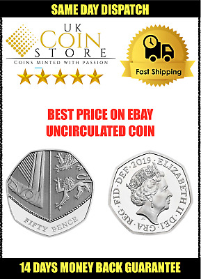 NEW 2019 Royal Shield of Arms 50p Fifty Pence Coin - UNCIRCULATED - ROYAL MINT