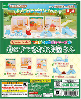 "Sylvanian Families Calico Critters Epoch Gacha ""Forest Market"" 4 set completed"