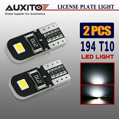 2x AUXITO W5W T10 LED Car Interior Dash Wedge Side Parker Lights White Globes