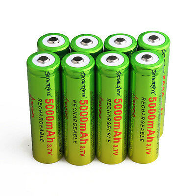 8pc SKYWOLFEYE 5000mAh Li-ion 3.7V 18650 Battery Rechargeable Batteries Cell Bat