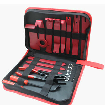 19x Auto Trim Wedge Set Door Trim Removal Hand Tool Disassembly Red