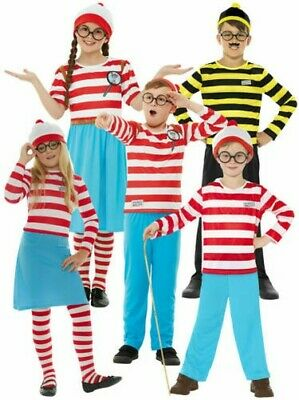 Adulti Bambini Where's Wally Wenda Costume per Bambini Bambini Costume