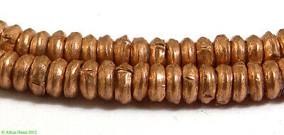 Copper Heishi Trade Beads Ethiopian Africa 28 Inch