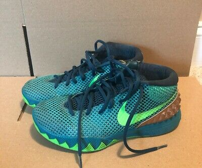 35d6a428b52f NIKE KYRIE IRVING 1 AUSTRALIA TEAL EMERALD USED MENS Size 7.5 ...