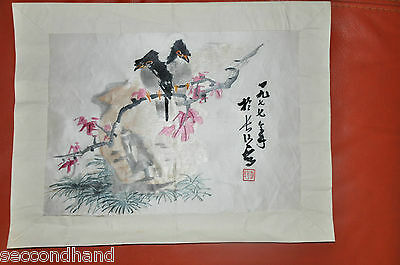 Hand Embroidered Picture Allans Of Duke Street , Chinese Birds   China