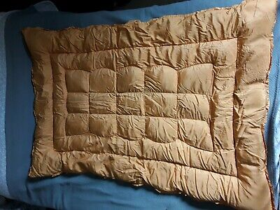 Antique Vintage Feather Landsdown Worcester Single Gold Taffetta Eiderdown Quilt
