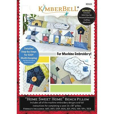 KIMBERBELL BENCH PILLOW Embroidery Designs on CD with SVG Cut Files