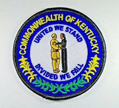 """/""""KENTUCKY GIRL/"""" Iron On Embroidered Patch State Shape Names,"""