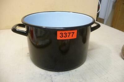 Alter Emaille Email Topf Old Enamelware Pot Emailwaren 3367