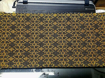 Vintage Radio Speaker Grill Cloth Wurlitzer New Old Stock Gold Dark Brown