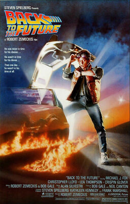 """Back to the Future Movie Poster High Quality 24"""" x 36"""", 27""""x 40"""""""