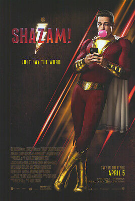 Shazam - original DS movie poster 27x40 D/S DC - other Captain Marvel FINAL