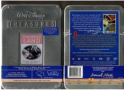 Factory Sealed Collector Tin Walt Disney Treasures Tomorrowland 2 DVD Set