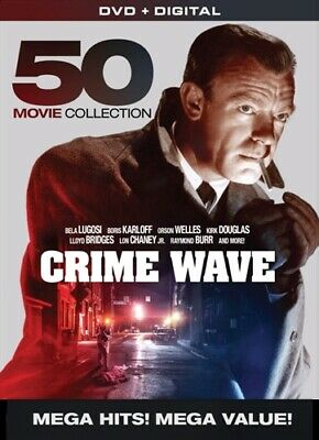 CRIME WAVE 50 MOVIE COLLECTION New 10 DVD Set Kirk Douglas Lloyd Bridges