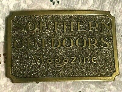 vintage 1982 SOUTHERN OUTDOORS MAGAZINE BELT BUCKLE great american buckle co WOW