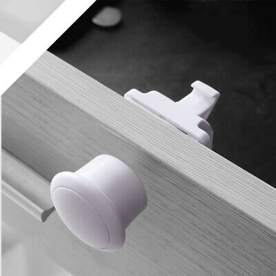 4Pcs Invisible Magnetic Cabinet Drawer Cupboard Locks For Baby Kids Safety Lock